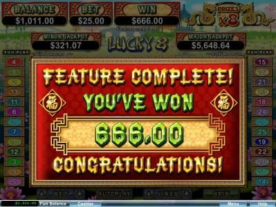 99 Slot Machines featuring the Video Slots Lucky 8 with a maximum payout of $250,000
