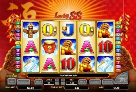 free games feature pays out a $67 jackpot