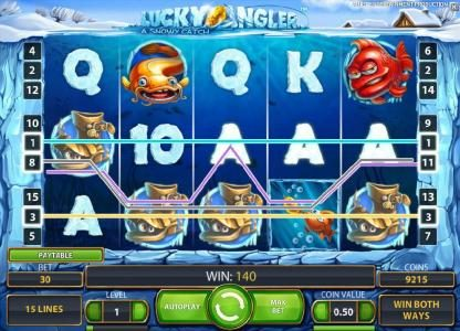 Play slots at 4 Stars: 4 Stars featuring the Video Slots Lucky Angler with a maximum payout of $10,000