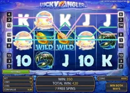 AC Casino featuring the Video Slots Lucky Angler with a maximum payout of $10,000