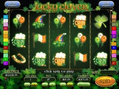 Mission 2 Game featuring the Video Slots Lucky Clover with a maximum payout of Jackpot