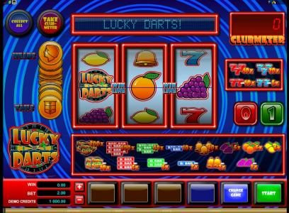Fika Casino featuring the Video Slots Lucky Darts with a maximum payout of $2,000