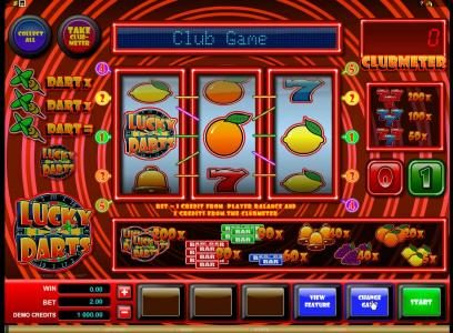 Bulldog777 featuring the Video Slots Lucky Darts with a maximum payout of $2,000