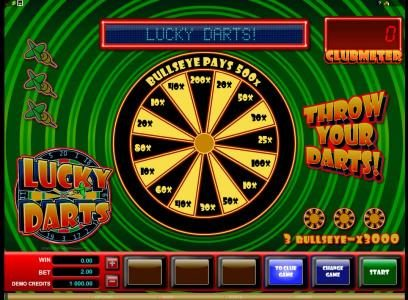 All Jackpots featuring the Video Slots Lucky Darts with a maximum payout of $2,000