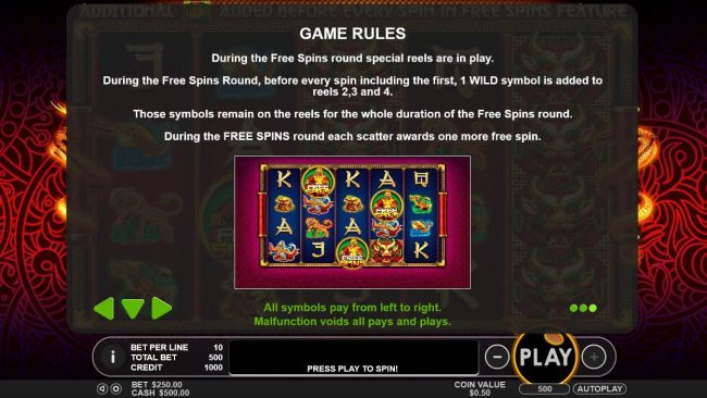 Casino Moons featuring the Video Slots Lucky Dragons with a maximum payout of $40,000