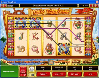 Crazy vegas featuring the Video Slots Lucky Eggsplorer with a maximum payout of $30,000