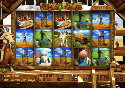 Solara featuring the Video Slots Lucky Farmer with a maximum payout of $5,000