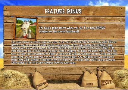 feature bonus rules