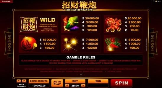 MANSION featuring the Video Slots Lucky Firecracker with a maximum payout of $90,000