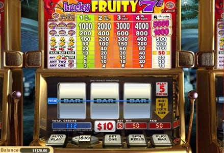 Intertops Classic featuring the Video Slots Lucky Fruity 7's with a maximum payout of $50,000