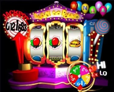 Crypto Slots featuring the Video Slots Lucky go Round with a maximum payout of $250