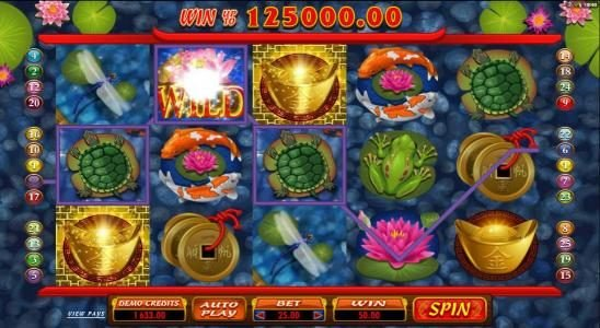 Lucky Nugget featuring the Video Slots Lucky Koi with a maximum payout of $250
