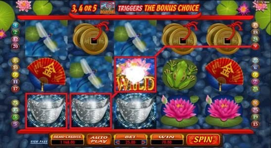 Rich Casino featuring the Video Slots Lucky Koi with a maximum payout of $250