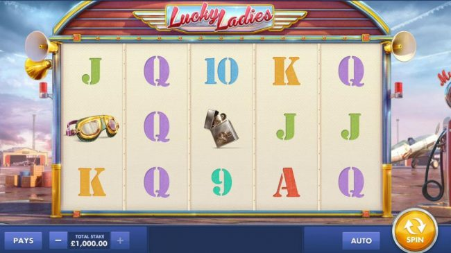 Main game board based on an aviator theme, featuring five reels and 20 paylines with a $200,000 max payout