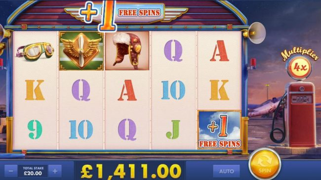 Earn extra free games when the +1 Free Spins symbol appears on the reels.