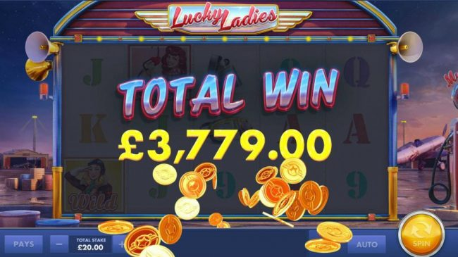 The Free Games feature pays out a total of 3,779.00 for a super win!
