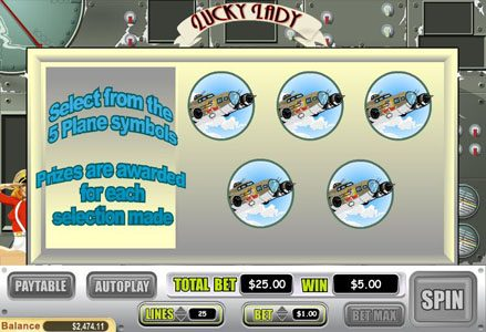 Intertops Classic featuring the Video Slots Lucky Lady with a maximum payout of $10,000