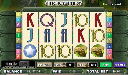 Play slots at Casino Luck: Casino Luck featuring the video-Slots Lucky Lady with a maximum payout of 1,000x