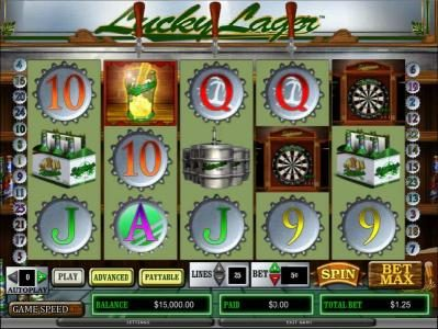 Slots Angel featuring the Video Slots Lucky Lager with a maximum payout of
