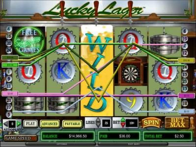 Prime Slots featuring the Video Slots Lucky Lager with a maximum payout of