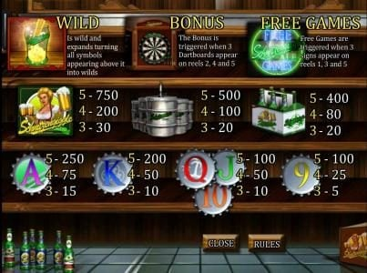 Karamba featuring the Video Slots Lucky Lager with a maximum payout of