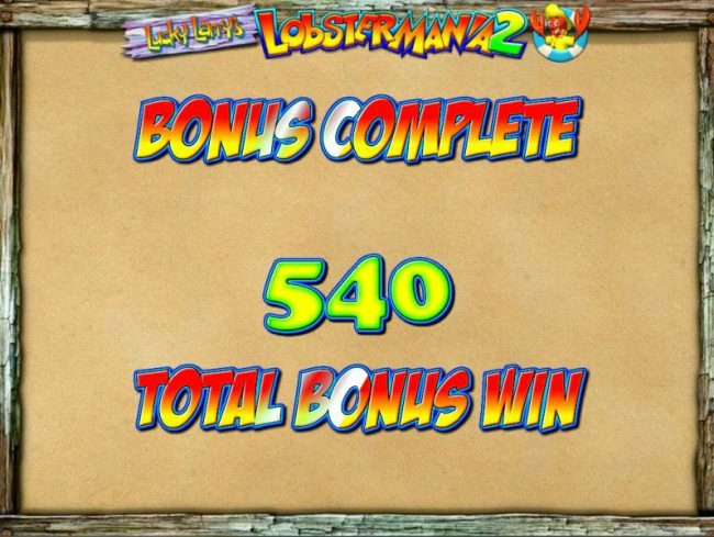Moon Games featuring the Video Slots Lucky Larry's Lobstermania 2 with a maximum payout of $2,500,000