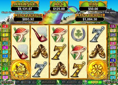 Slots of Vegas featuring the Video Slots Lucky Last with a maximum payout of $250,000