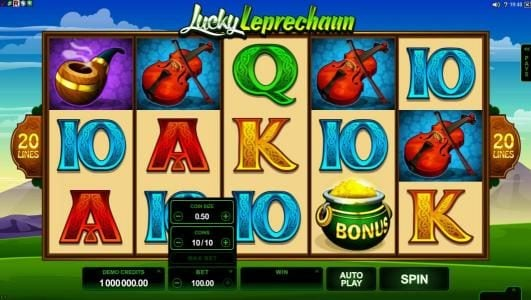 Grand Ivy featuring the Video Slots Lucky Leprechaun with a maximum payout of $5,000