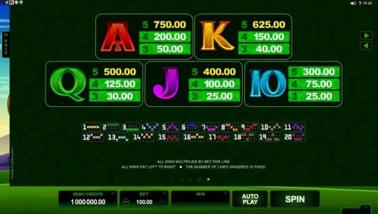 UK Casino Club featuring the Video Slots Lucky Leprechaun with a maximum payout of $5,000