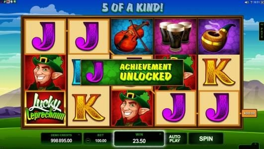 Cabaret Club featuring the Video Slots Lucky Leprechaun with a maximum payout of $5,000