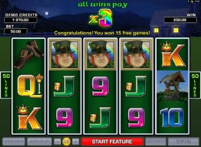 Platinum Play featuring the Video Slots Lucky Leprechaun's Loot with a maximum payout of $2,500