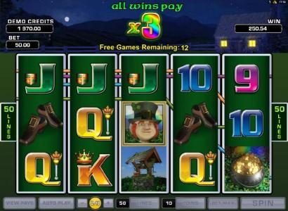 Lucky Leprechaun's Loot :: free spins game board
