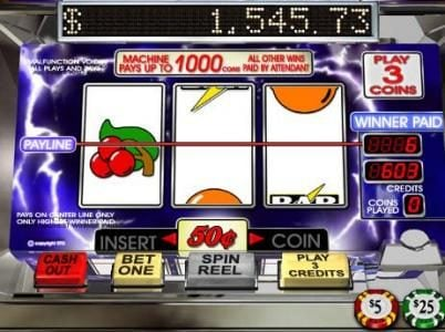 Slotastic featuring the video-Slots Lucky Lightnin' with a maximum payout of Jackpot