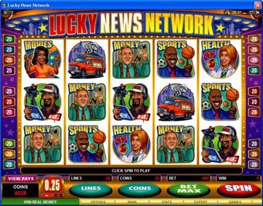 Play slots at Instacasino: Instacasino featuring the Video Slots Lucky News Network with a maximum payout of $10,000