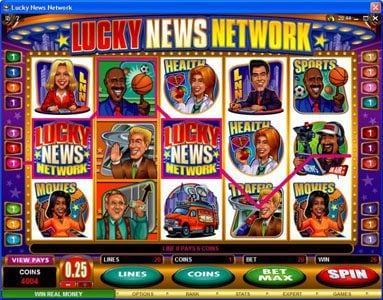 Cabaret Club featuring the Video Slots Lucky News Network with a maximum payout of $10,000