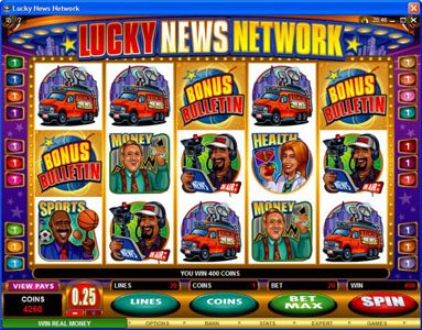 Heaven Bet featuring the Video Slots Lucky News Network with a maximum payout of $10,000