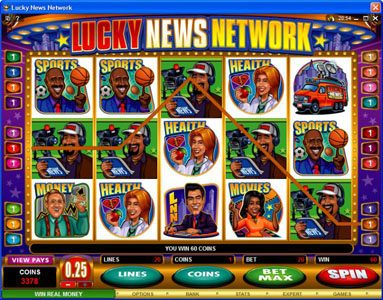 Play slots at Jackpot City: Jackpot City featuring the Video Slots Lucky News Network with a maximum payout of $10,000
