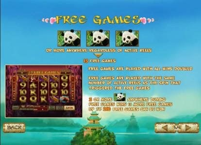 Lucky Panda :: free games  when three or more panda symbols appear anywhere