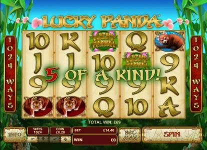 Lucky Panda :: five of a kind triggered