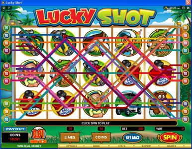 Casdep featuring the Video Slots Lucky Shot with a maximum payout of $75,000