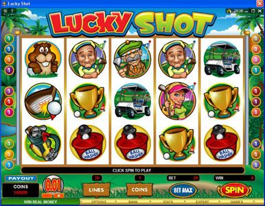 Leo Vegas featuring the Video Slots Lucky Shot with a maximum payout of $75,000