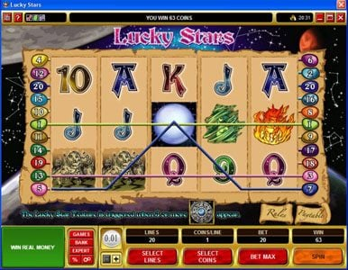 Casdep featuring the Video Slots Lucky Stars with a maximum payout of $100,000