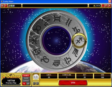 Boaboa featuring the Video Slots Lucky Stars with a maximum payout of $100,000