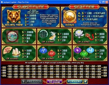 Play slots at All Star Slots: All Star Slots featuring the Video Slots Lucky Tiger with a maximum payout of $50,000