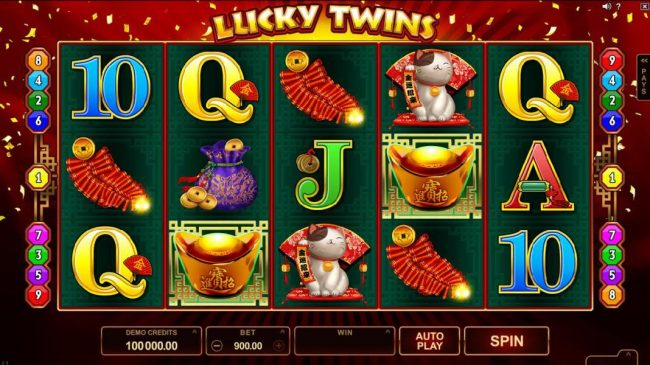 Royal Vegas featuring the Video Slots Lucky Twins with a maximum payout of $500,000