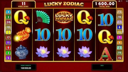Intercasino featuring the Video Slots Lucky Zodiac with a maximum payout of $560,000
