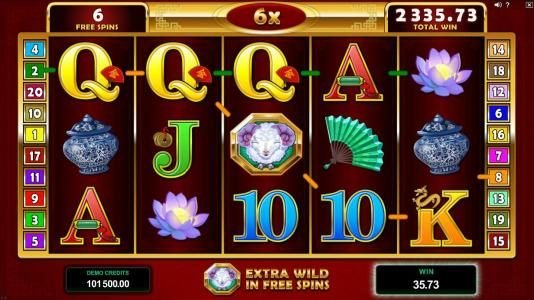 Sin Spins featuring the Video Slots Lucky Zodiac with a maximum payout of $560,000