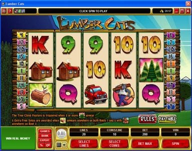 Play slots at Mr Play: Mr Play featuring the Video Slots Lumber Cats with a maximum payout of $75,000