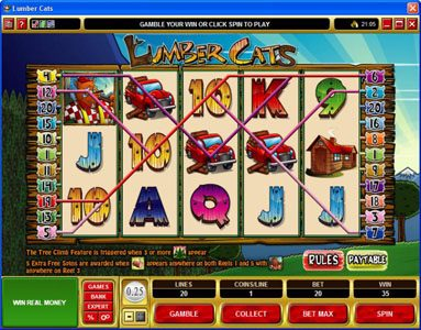 YouWin featuring the Video Slots Lumber Cats with a maximum payout of $75,000