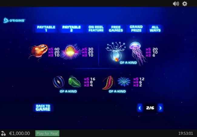 Giant Vegas featuring the Video Slots Luminous Life with a maximum payout of $75,000